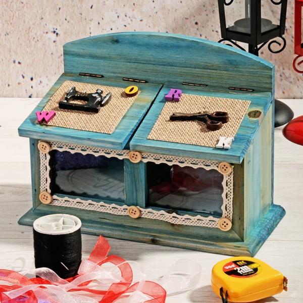 Drewniane pudełko na nici Blues