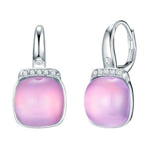 Kolczyki z kryształami Swarovski Pure Pink