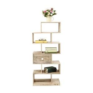 Biblioteczka z drewna mangowca Kare Design Puro Zick Zack