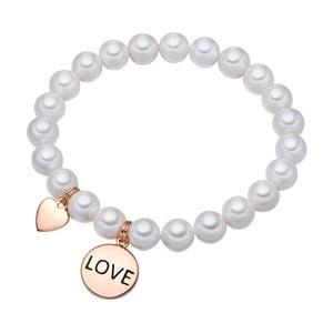 Biała   bransoletka z pereł Pearls of London Love,19 cm