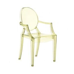 Jasnożółte krzesło Kartell Louis Ghost