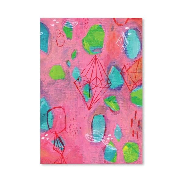 Plakat Geometry Pink, 30x42 cm