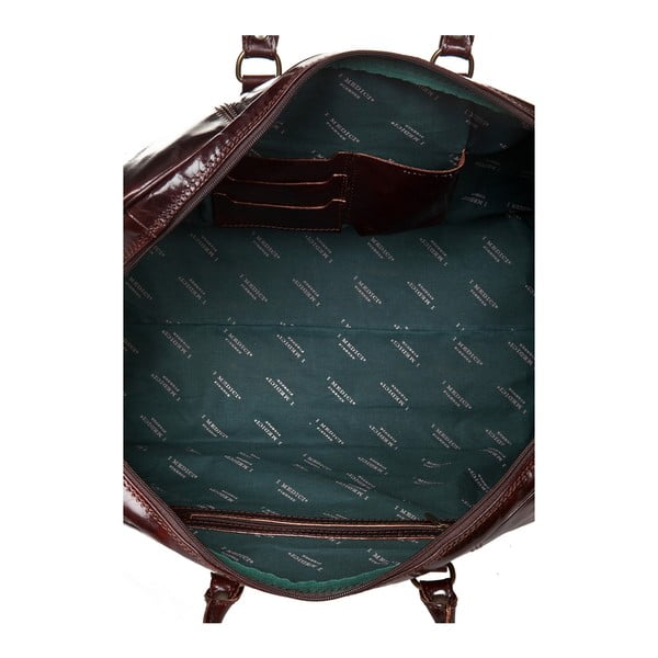Ciemnobrązowa skórzana torba podróżna Medici of Florence Enrico