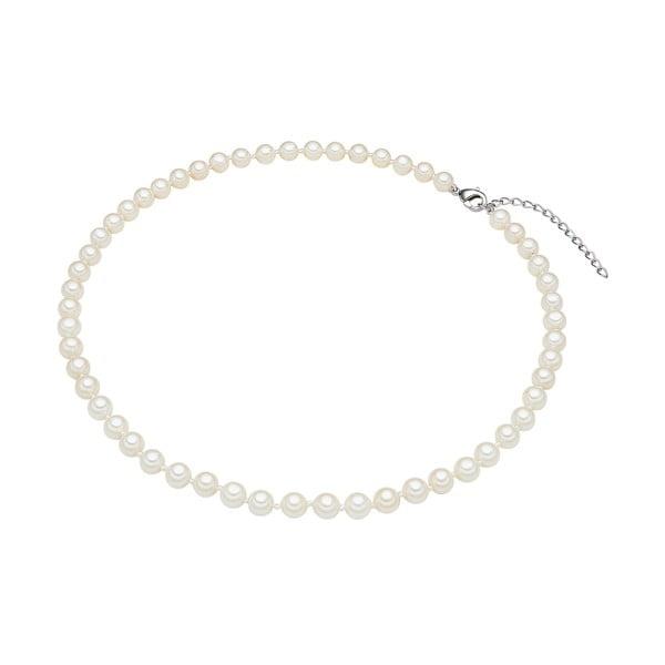 Naszyjnik z białych pereł ⌀ 6 mm Perldesse Muschel, długość 40 cm
