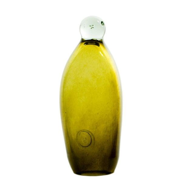 Szklany pingwin 20-23 cm, oliwkowy
