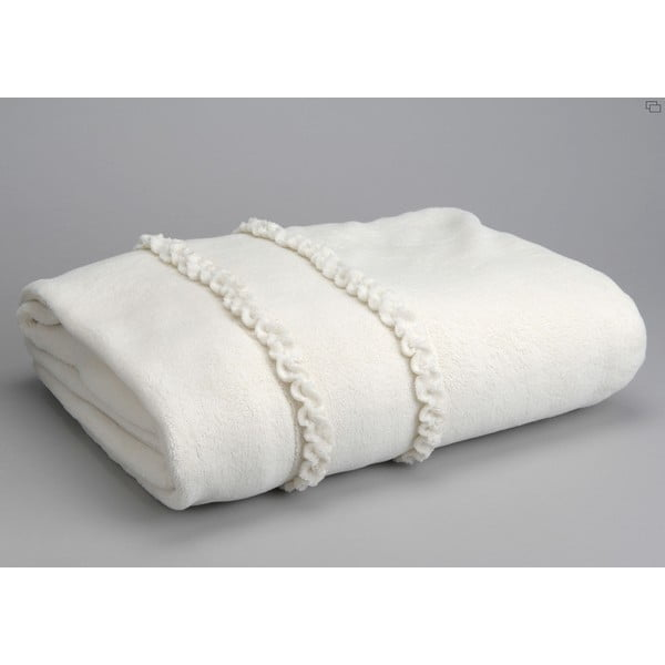 Koc Cream Froufrou, 170x130 cm