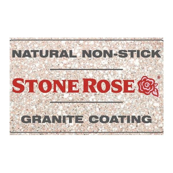 Garnek z pokrywką Bisetti Stonerose Rose Lorenzo, ø 24 cm