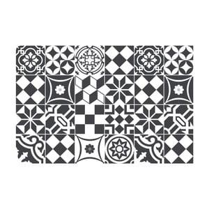 Zestaw 24 naklejek Ambiance Mosaic Black and White