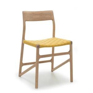 Krzesło Fawn White Pigment Gazzda, żółte