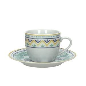 Zestaw 6 filiżanek na herbatę ze spodkiem Moon Ink