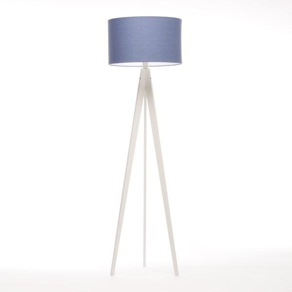 Lampa stojąca Artist Dark Blue Linnen/White Birch, 125x42 cm