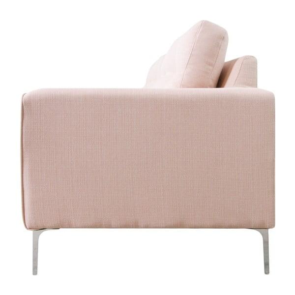 Trzyosobowa sofa Ebony, różowa