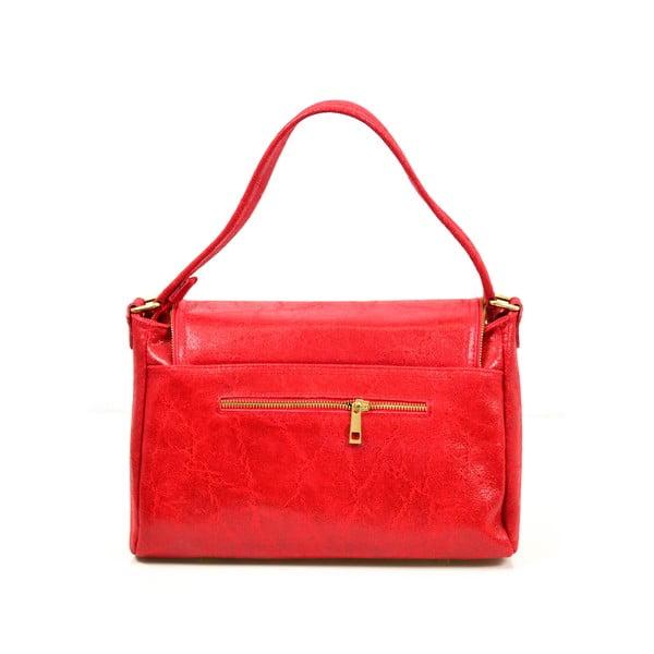 Skórzana torebka Eleonore, czerwona
