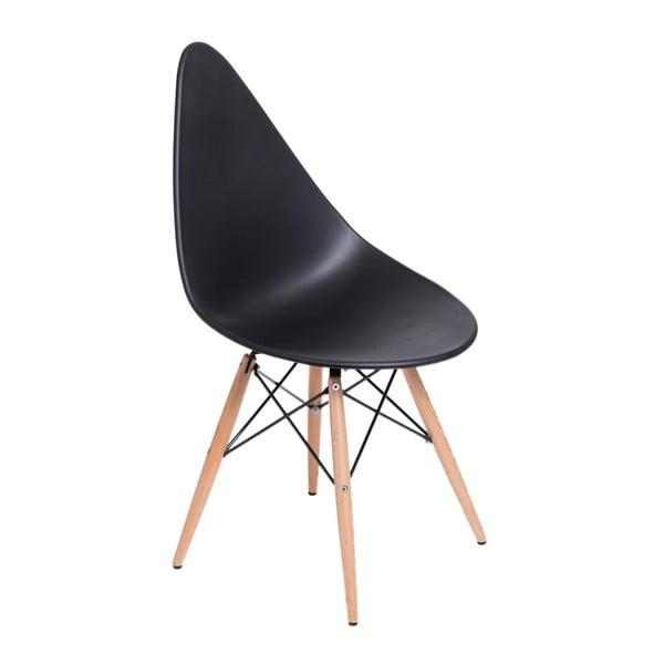 Zestaw 2 czarnych krzeseł D2 Rush DWS