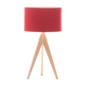 Lampa stołowa Artist Red/Birch, 40x33 cm