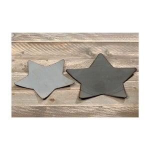 Komplet 2 talerzy ozdobnych Dark Stars