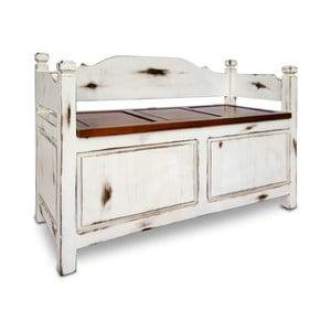 Biała ławka Moycor Trunk