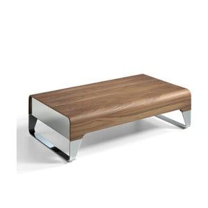 Stolik kawowy z szufladą z drewna orzecha Ángel Cerdá Demien