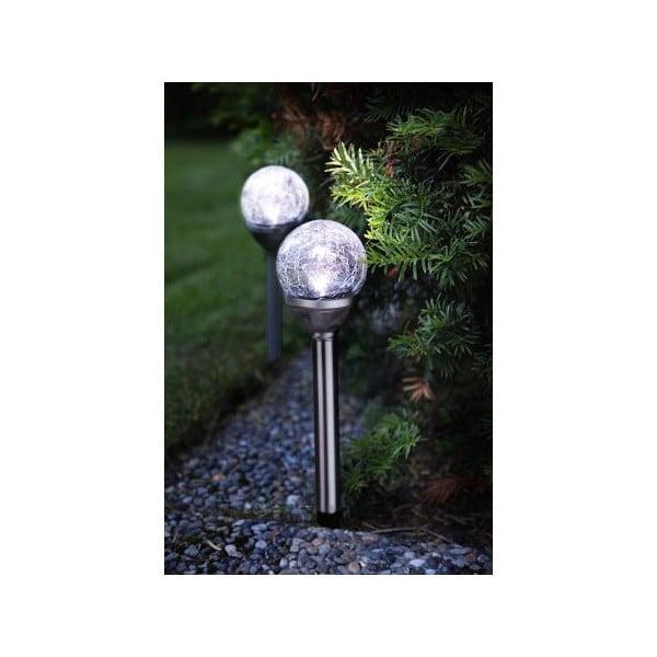 Zestaw 2 lamp ogrodowych Solar Balls Silver
