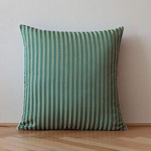 Poduszka z wypełnieniem Dark Green Stripes, 50x50 cm