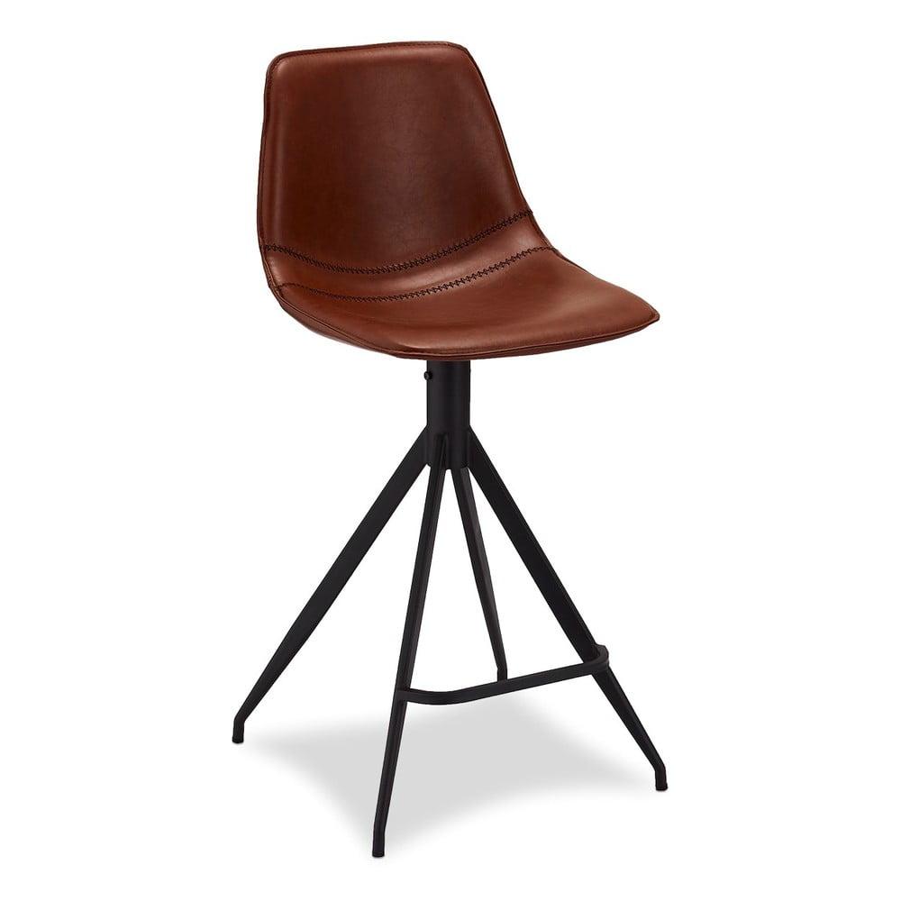 Zestaw 2 jasnobrązowych krzeseł barowych Furnhouse Isabel
