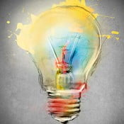 Obraz Bulb, 60x60 cm