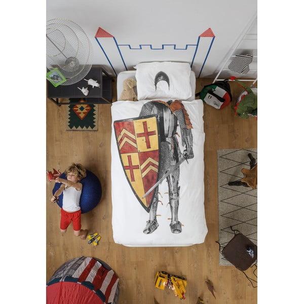 Bawełniana pościel jednoosobowa Snurk Knight 140x200 cm