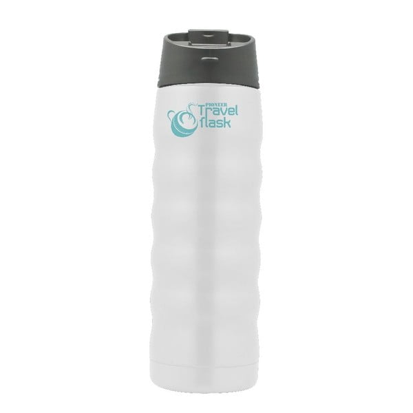 Biała podróżna butelka termiczna  Pioneer, 480 ml