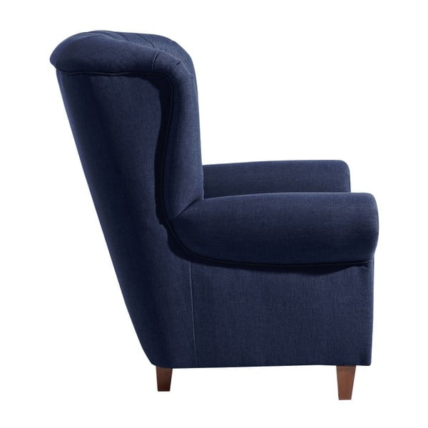 Ciemnoniebieski fotel Max Winzer Vicky