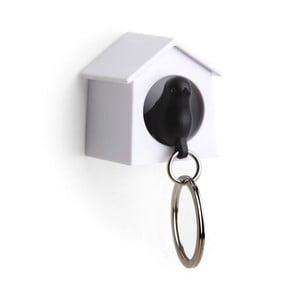 Wieszak na klucze wróbelek w budce MINI, czarny