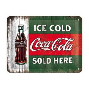 Blaszana tabliczka Coca Cola Sold Here, 15x20 cm