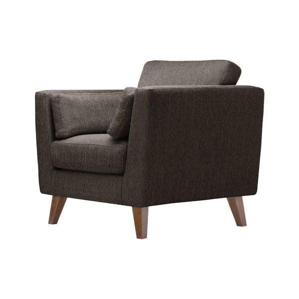 Kasztanowy fotel Elisa