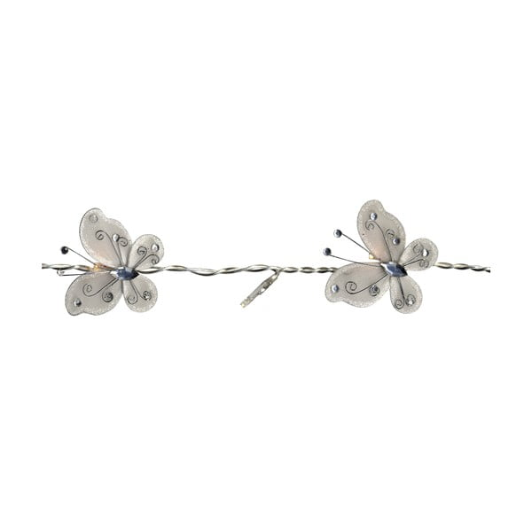 Girlanda świetlna Butterflies 120 cm, biała