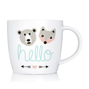Porcelanowy kubek Hello, 300 ml