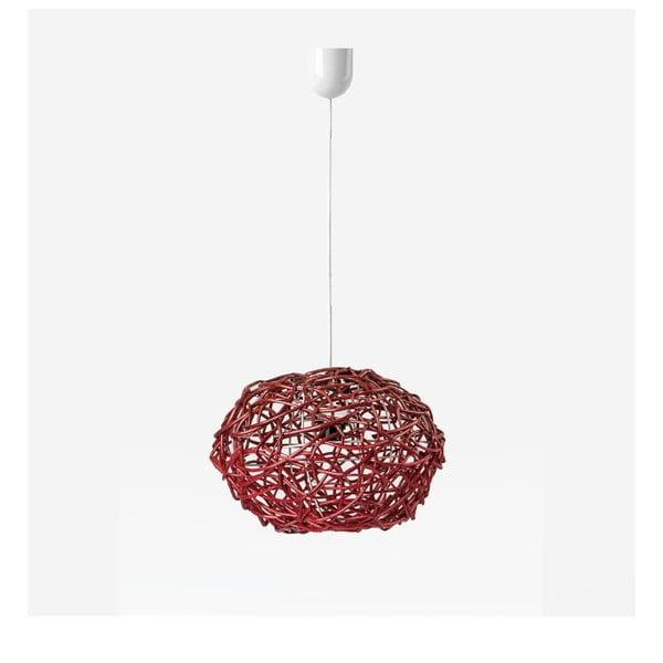 Lampa wisząca Kula, 32x25 cm, czerwona