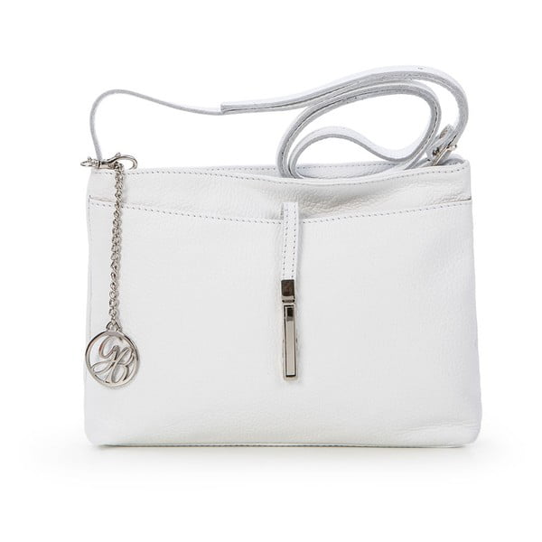 Skórzana torebka Francesco, biała