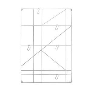 Biały wieszak wiszący Versa Geometric