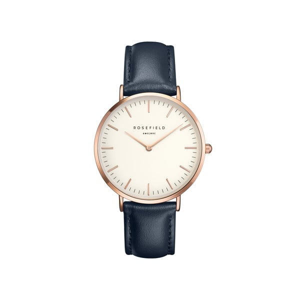 Zegarek damski Rosefield - The Bowery, biały/niebieski/rosegold