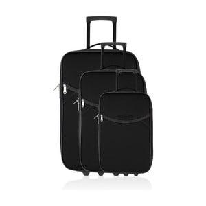 Zestaw 3 walizek podróżnych Classic Black