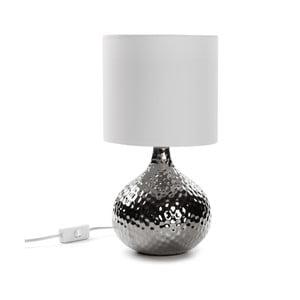Srerbna lampa stołowa Versa Metal