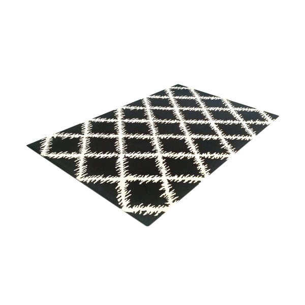 Dywan Diamond Ivory Black, 153x244 cm