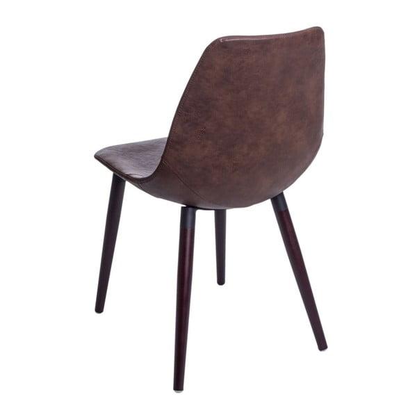 Zestaw 2 brązowych krzeseł D2 Vincent