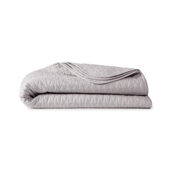 Narzuta na łóżko Shape Silver, 270x270 cm