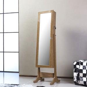 Zamykane lustro stojące ze schowkiem Lavinia, oliwkowe