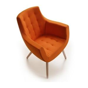Pomarańczowe krzesło Woody Bureau Zago