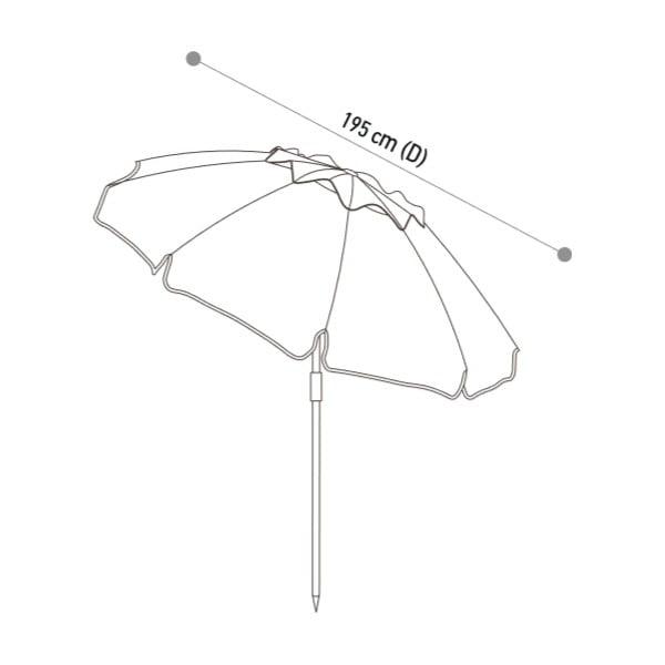 Parasol Kau Kiri Green, 200 cm