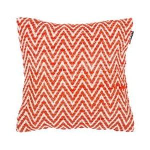 Pomarańczowa poduszka dekoracyjna ZicZac Ziggy, 45x45 cm