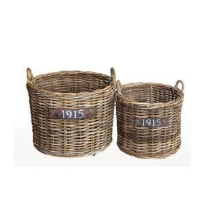 Zestaw 2 koszyków rattanowyh Esschert Design Gardenia