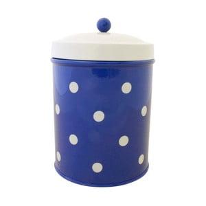 Pojemnik w kropki, niebieski