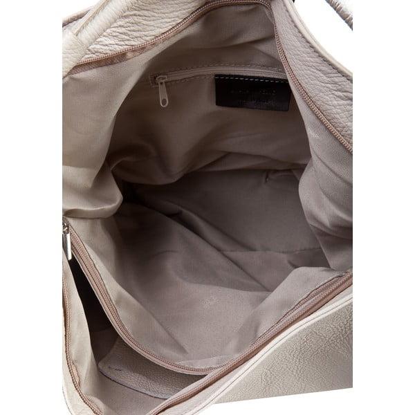 Jasnobeżowa torebka skórzana Massimo Castelli Norvala